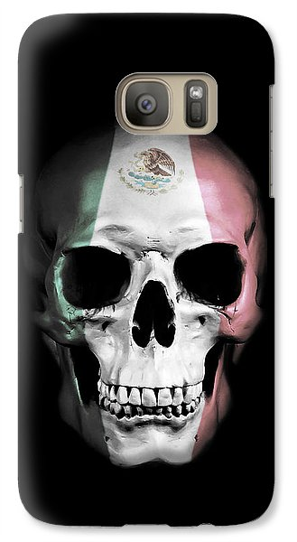 Galaxy Case featuring the digital art Mexican Skull by Nicklas Gustafsson