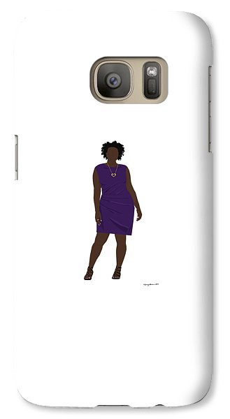 Galaxy Case featuring the digital art Vanessa by Nancy Levan