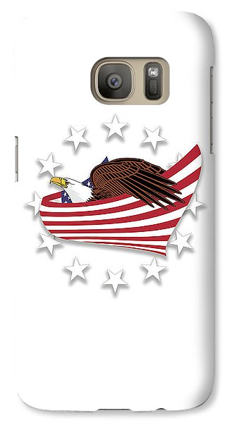 Galaxy Case featuring the digital art Eagle Of The Free V1 by Bruce Stanfield