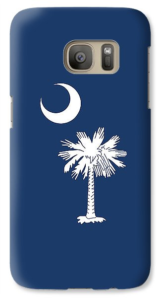 Galaxy Case featuring the digital art Flag Of South Carolina Authentic Version by Bruce Stanfield