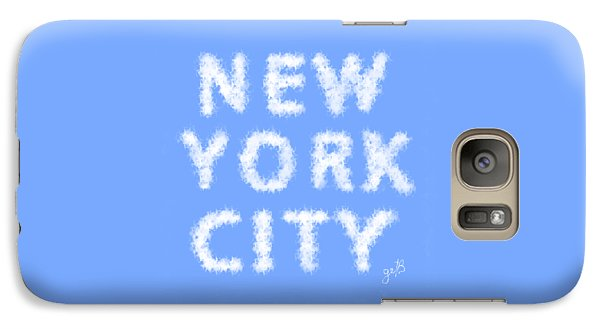 Galaxy Case featuring the painting New York City Skywriting Typography by Georgeta Blanaru