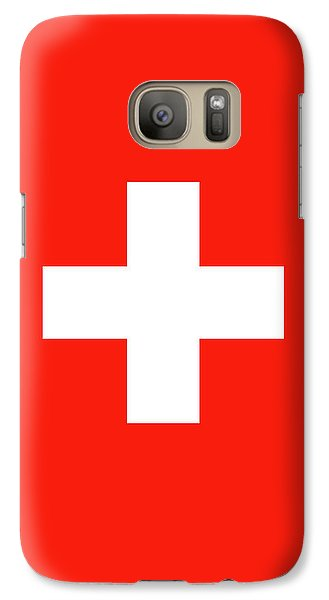 Galaxy Case featuring the digital art Flag Of Switzerland by Bruce Stanfield