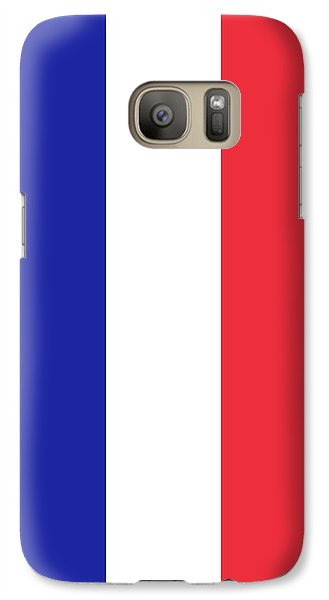 Galaxy Case featuring the digital art Flag Of France High Quality Authentic Image by Bruce Stanfield