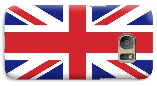 Galaxy Case featuring the digital art Union Jack Ensign Flag 1x2 Scale by Bruce Stanfield