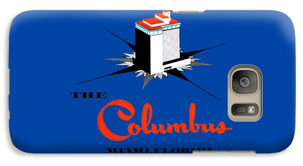 Galaxy Case featuring the painting 1955 Columbus Hotel Of Miami Florida  by Historic Image
