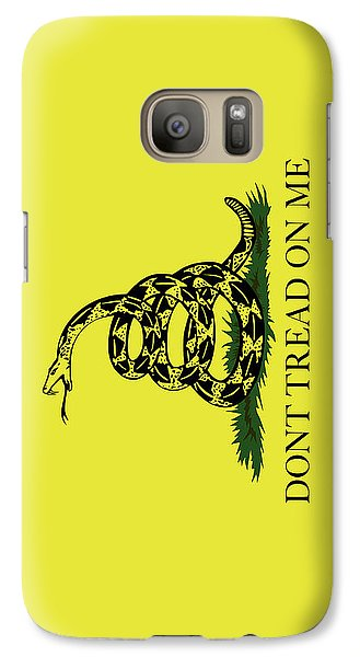 Galaxy Case featuring the digital art Gadsden Dont Tread On Me Flag Authentic Version by Bruce Stanfield