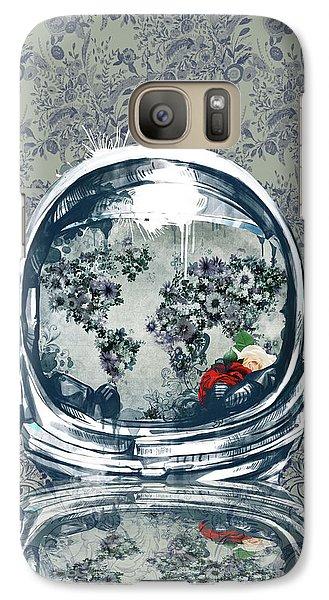 Science Fiction Galaxy S7 Case - Astronaut World Map 5 by Bekim Art
