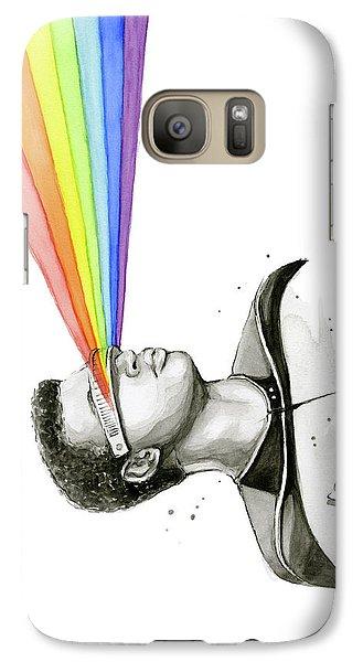 Science Fiction Galaxy S7 Case - Geordi Sees The Rainbow by Olga Shvartsur