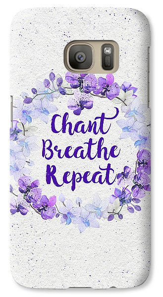 Galaxy Case featuring the painting Chant, Breathe, Repeat by Tammy Wetzel