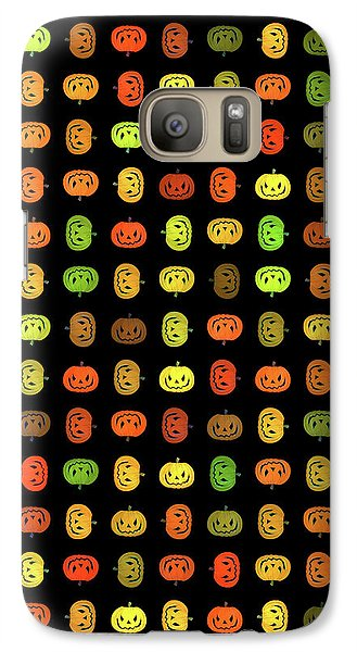 Galaxy Case featuring the digital art Jack-o-lanterns by Methune Hively