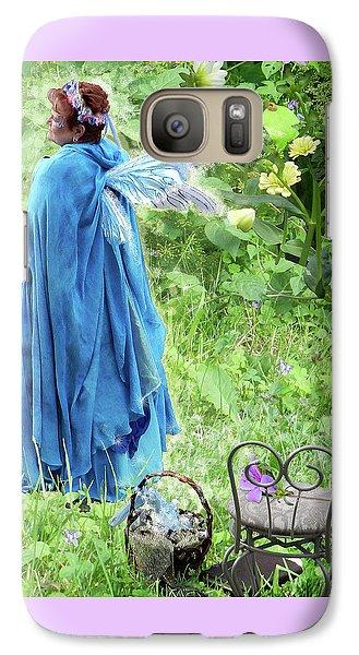 Galaxy Case featuring the digital art A Dragon Confides In A Fairy by Lise Winne