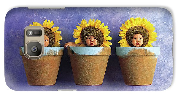 Sunflower Galaxy S7 Case - Sunflower Pots by Anne Geddes