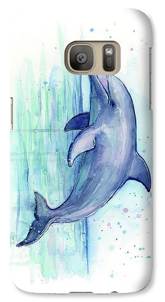 Dolphin Watercolor Galaxy S7 Case