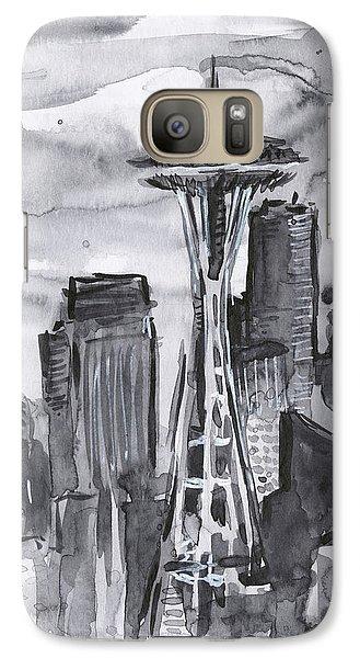 Seattle Galaxy S7 Case - Seattle Skyline Space Needle by Olga Shvartsur