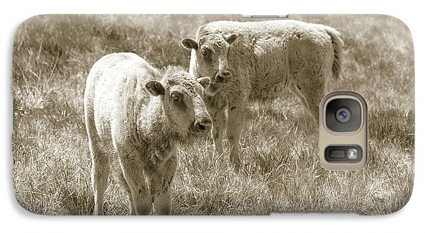 Galaxy Case featuring the photograph Pair Of Baby Buffalos by Rebecca Margraf