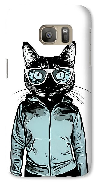 Galaxy Case featuring the mixed media Cool Cat by Nicklas Gustafsson