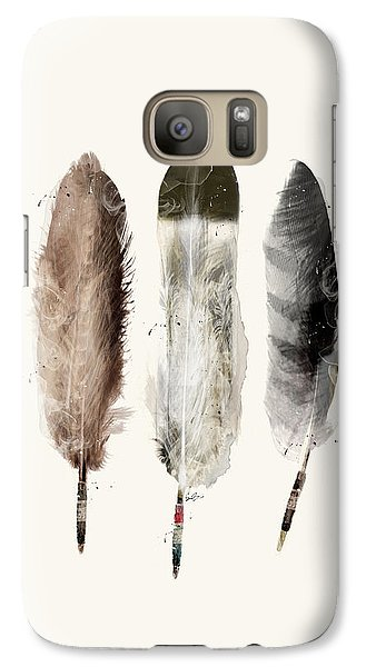 Galaxy Case featuring the painting Native Feathers by Bri B
