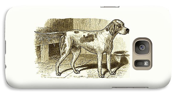 Galaxy Case featuring the painting Vintage Sepia German Shorthaired Pointer by Marian Cates