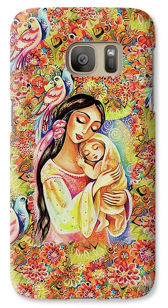 Galaxy S7 Case featuring the painting Little Angel Dreaming by Eva Campbell