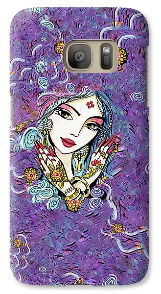 Galaxy S7 Case featuring the painting Hands Of India by Eva Campbell