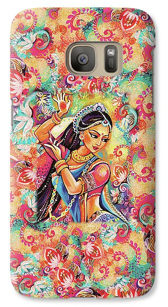 Galaxy Case featuring the painting Dancing Of The Phoenix by Eva Campbell