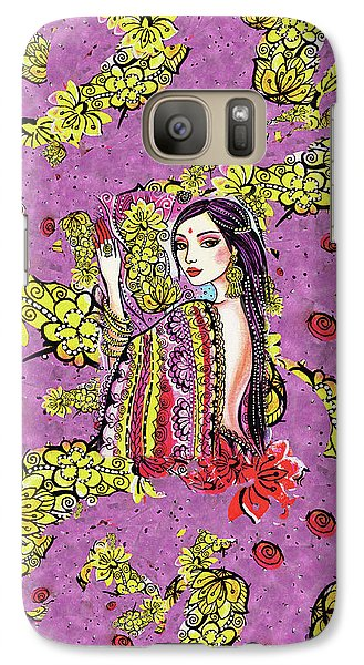 Galaxy S7 Case featuring the painting Soul Of India by Eva Campbell