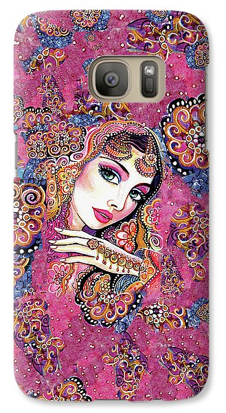 Galaxy S7 Case featuring the painting Kumari by Eva Campbell