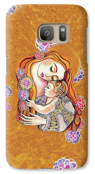 Galaxy Case featuring the painting Little Angel Sleeping by Eva Campbell