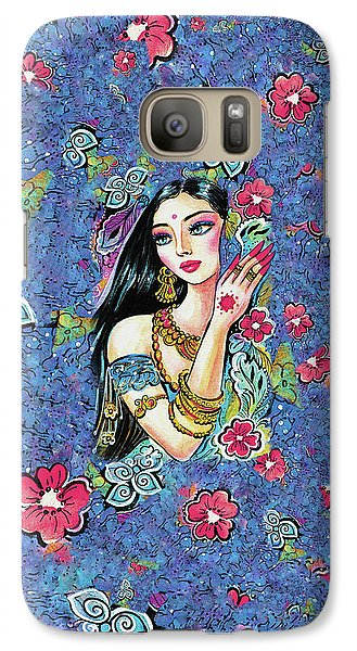 Galaxy Case featuring the painting Gita by Eva Campbell