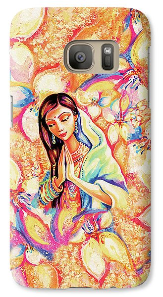 Galaxy S7 Case featuring the painting Little Himalayan Pray by Eva Campbell