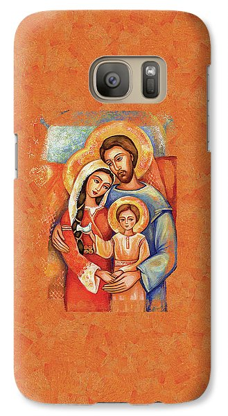 Galaxy S7 Case featuring the painting The Holy Family by Eva Campbell