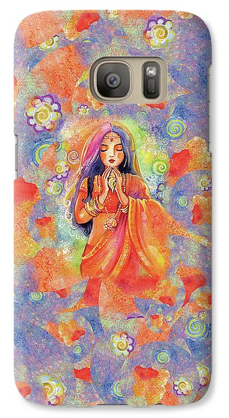 Galaxy S7 Case featuring the painting Seashell Wish by Eva Campbell