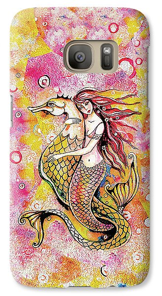 Black Sea Mermaid Galaxy S7 Case