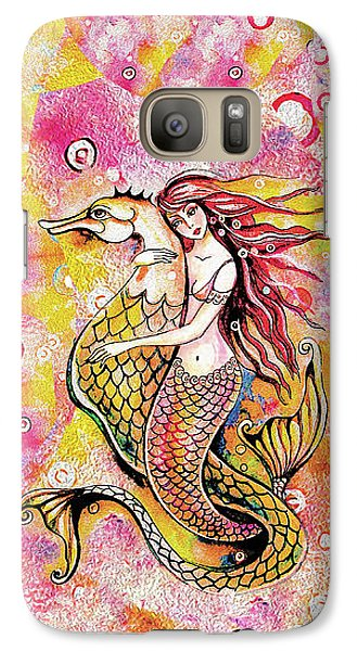Black Sea Mermaid Galaxy S7 Case