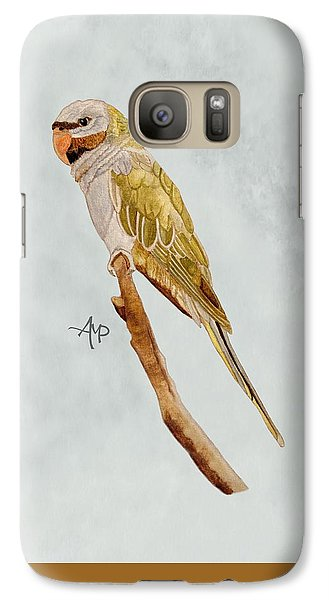 Derbyan Parakeet Galaxy S7 Case by Angeles M Pomata