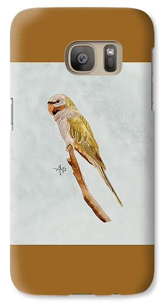 Derbyan Parakeet Galaxy S7 Case by Angeles M Pomata