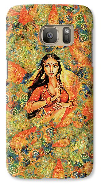 Galaxy Case featuring the painting Flame by Eva Campbell