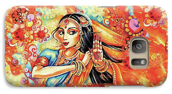 Galaxy S7 Case featuring the painting Sun Ray Dance by Eva Campbell