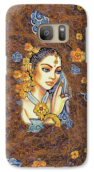 Galaxy S7 Case featuring the painting Amari by Eva Campbell