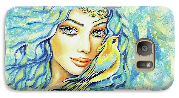 Galaxy S7 Case featuring the painting Bird Of Secrets by Eva Campbell