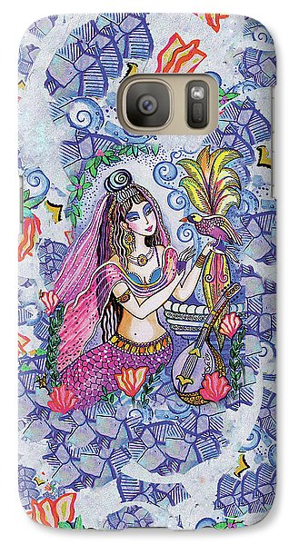 Galaxy S7 Case featuring the painting Scheherazade's Bird by Eva Campbell