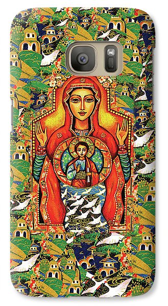 Galaxy S7 Case featuring the painting Our Lady Of The Sign by Eva Campbell