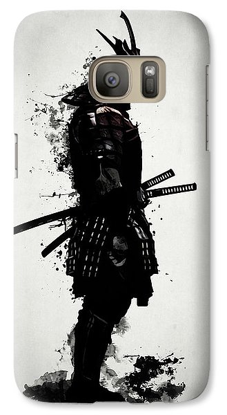 Galaxy Case featuring the mixed media Armored Samurai by Nicklas Gustafsson