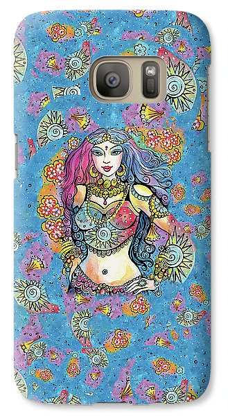 Galaxy S7 Case featuring the painting Kali by Eva Campbell