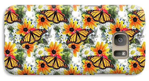 Galaxy Case featuring the mixed media Butterfly Pattern by Christina Rollo