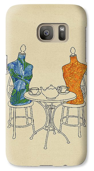 Galaxy Case featuring the painting High Tea by Meg Shearer