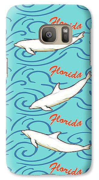 Galaxy Case featuring the digital art Florida Dolphin Print by Methune Hively
