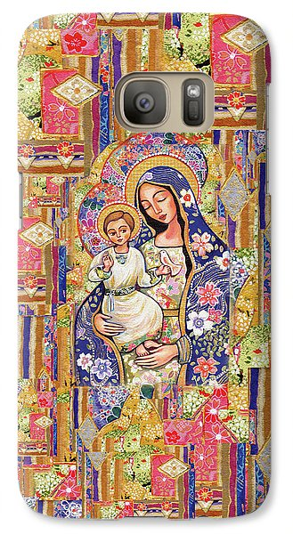 Galaxy S7 Case featuring the painting Panagia Eleousa by Eva Campbell