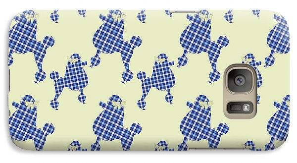 Galaxy Case featuring the mixed media French Poodle Plaid by Christina Rollo
