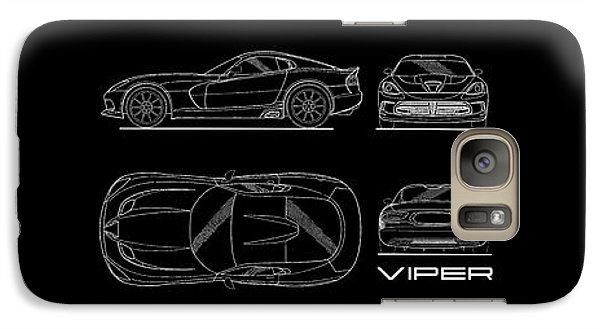 Viper Blueprint Galaxy S7 Case by Mark Rogan